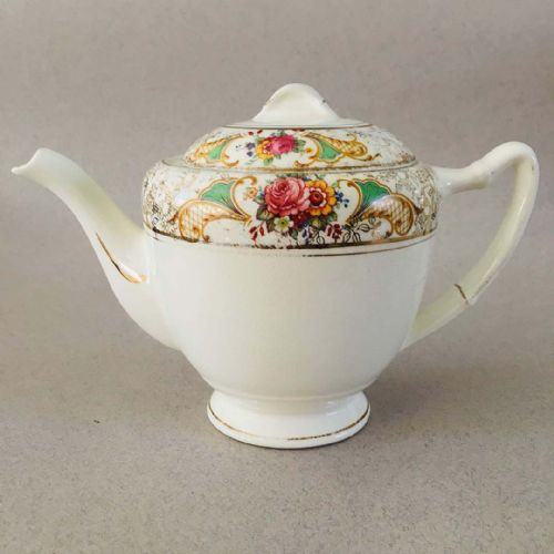 Palissy - Floral & Gold Chintz - Tea Pot - 50s